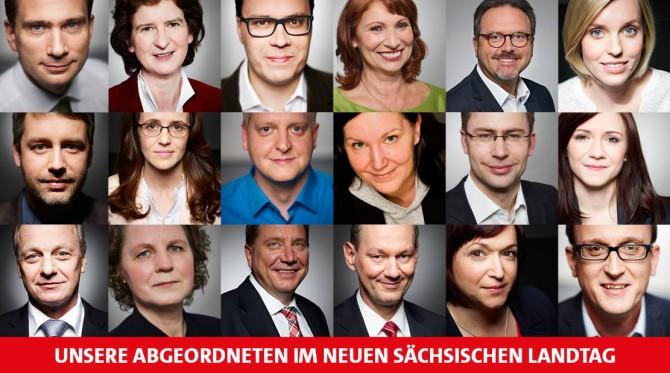 neugewählte Abgeordnete der SPD-Fraktion
