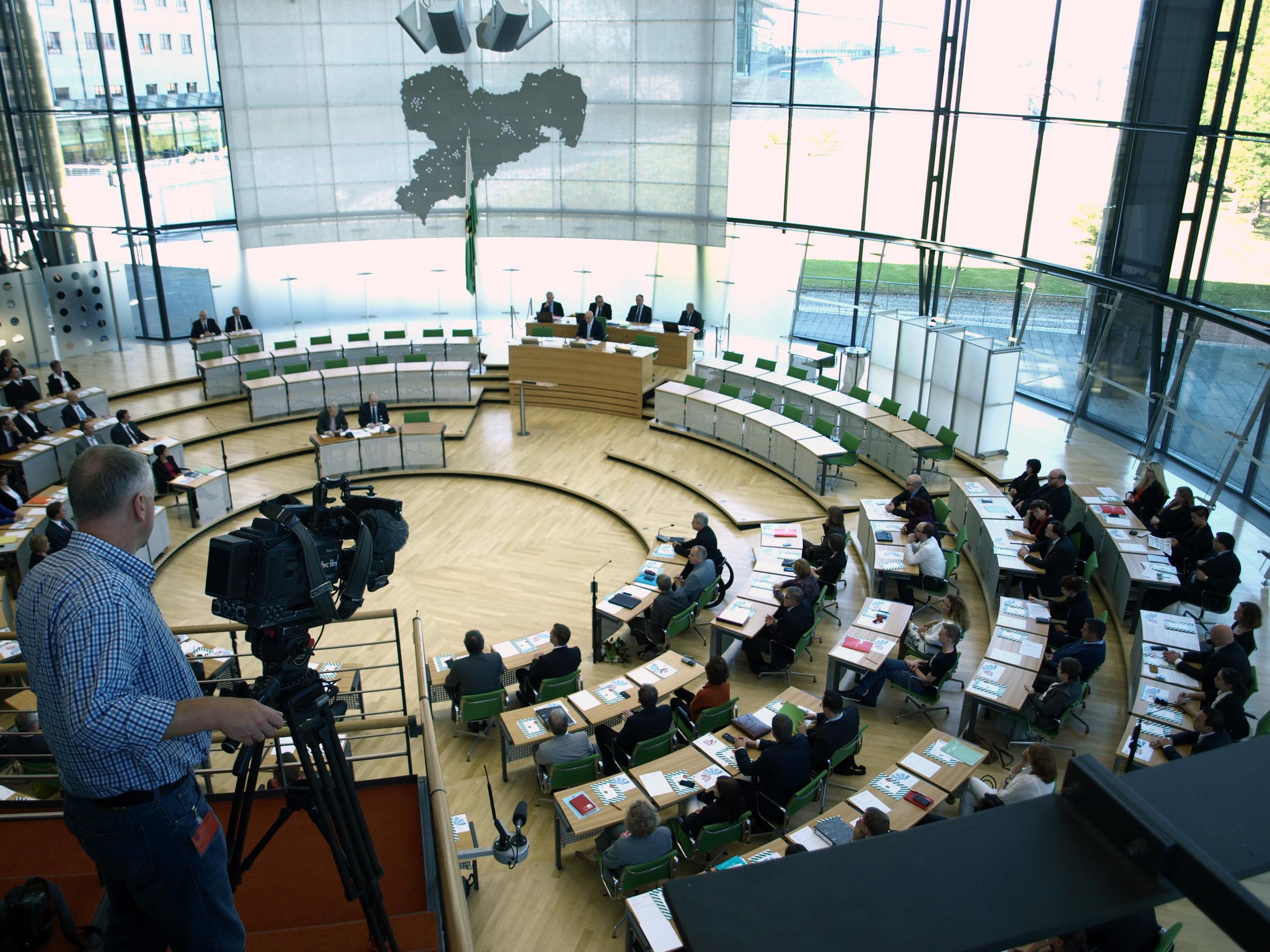 Die SPD-Fraktion im Plenum des Landtages