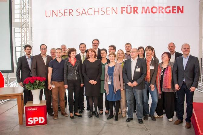 Neu gewählter Landesvorstand der SPD Sachsen