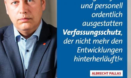 Pallas: Verfassungsschutz jetzt umfassend reformieren