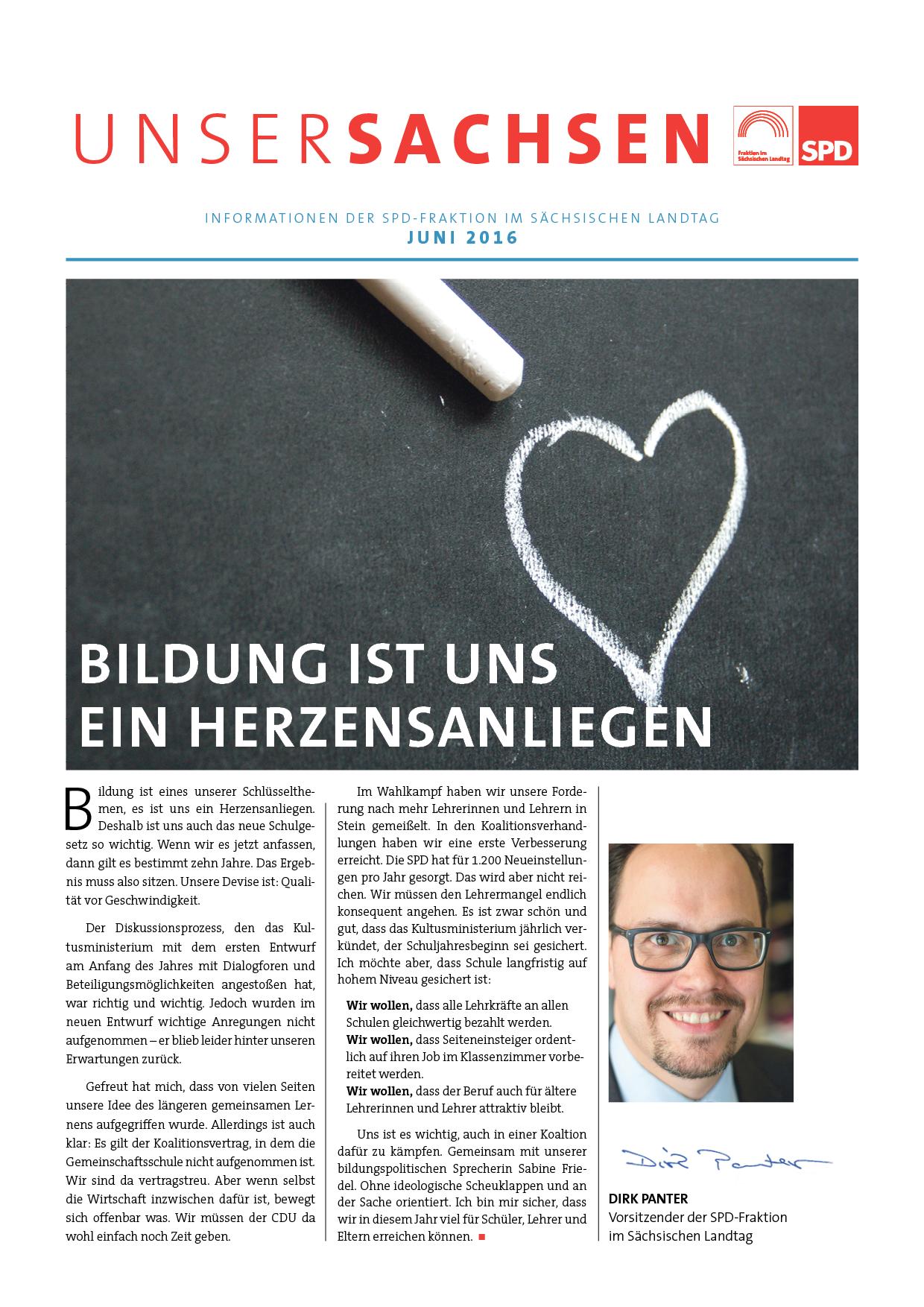 'Unser Sachsen' zum Thema Schule