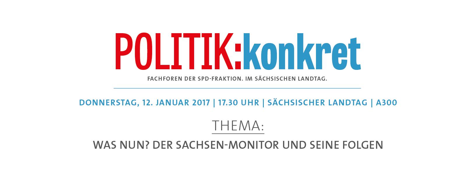 Mit der SPD-Fraktion diskutieren: Der Sachsen-Monitor und seine Folgen