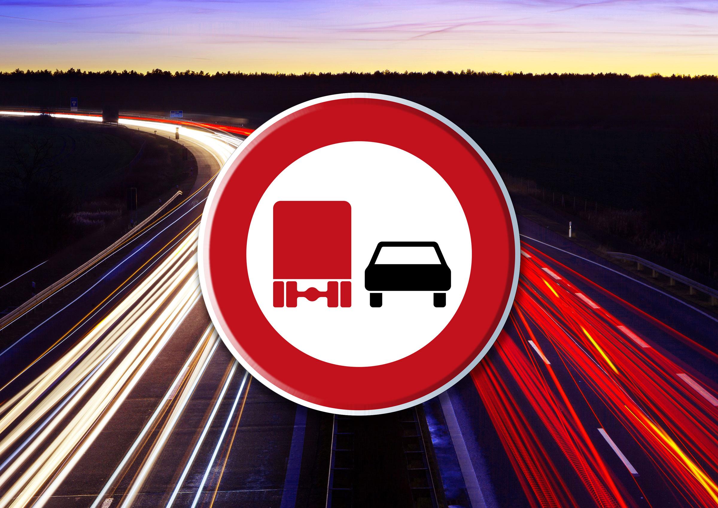Neue Lkw-Überholverbote richtiger Schritt