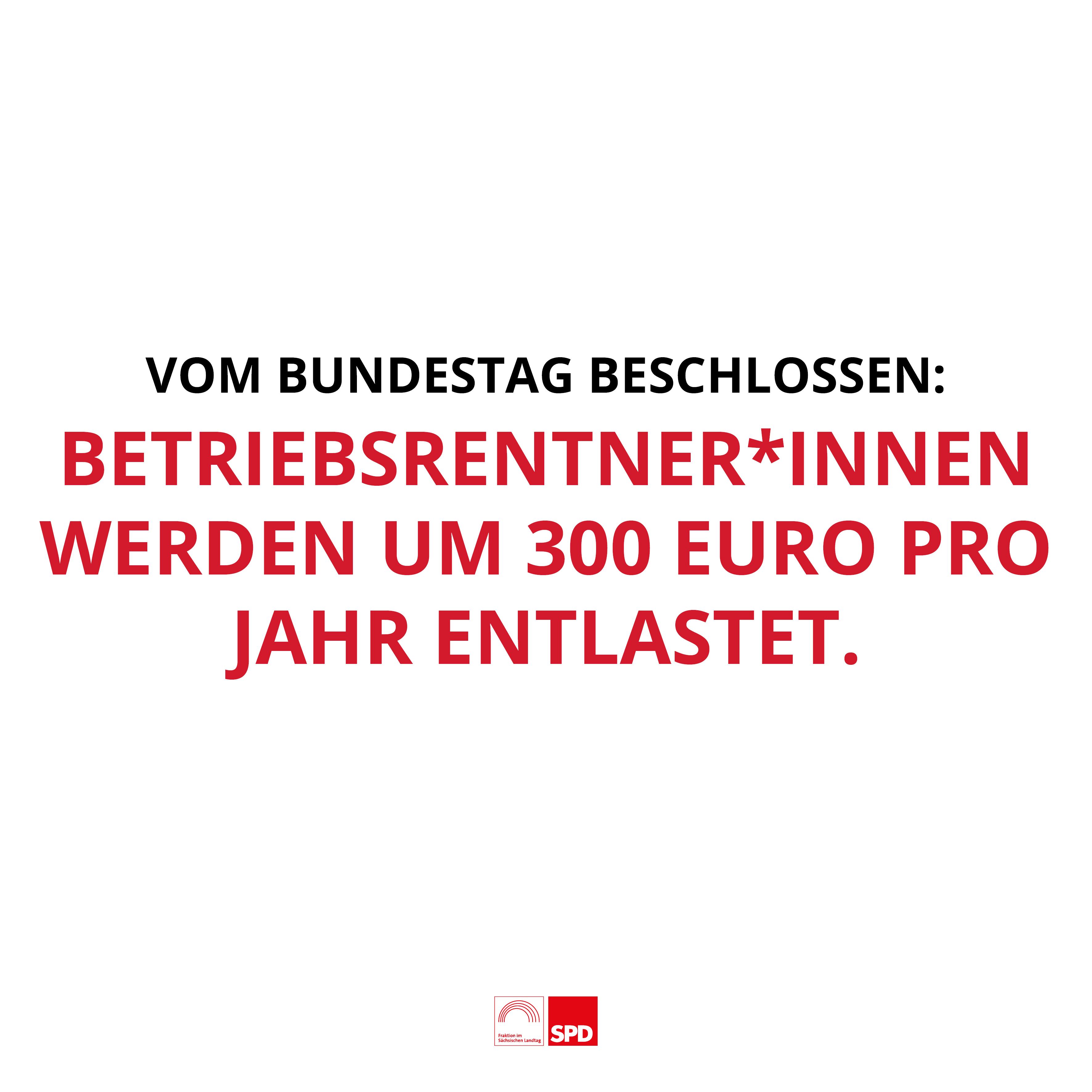 Spürbare Entlastungen für Betriebsrentner*innen vom Bundestag beschlossen