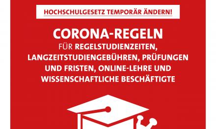 Mann: Hochschulgesetz temporär ändern und Corona-Auswirkungen auf das Studium abmildern