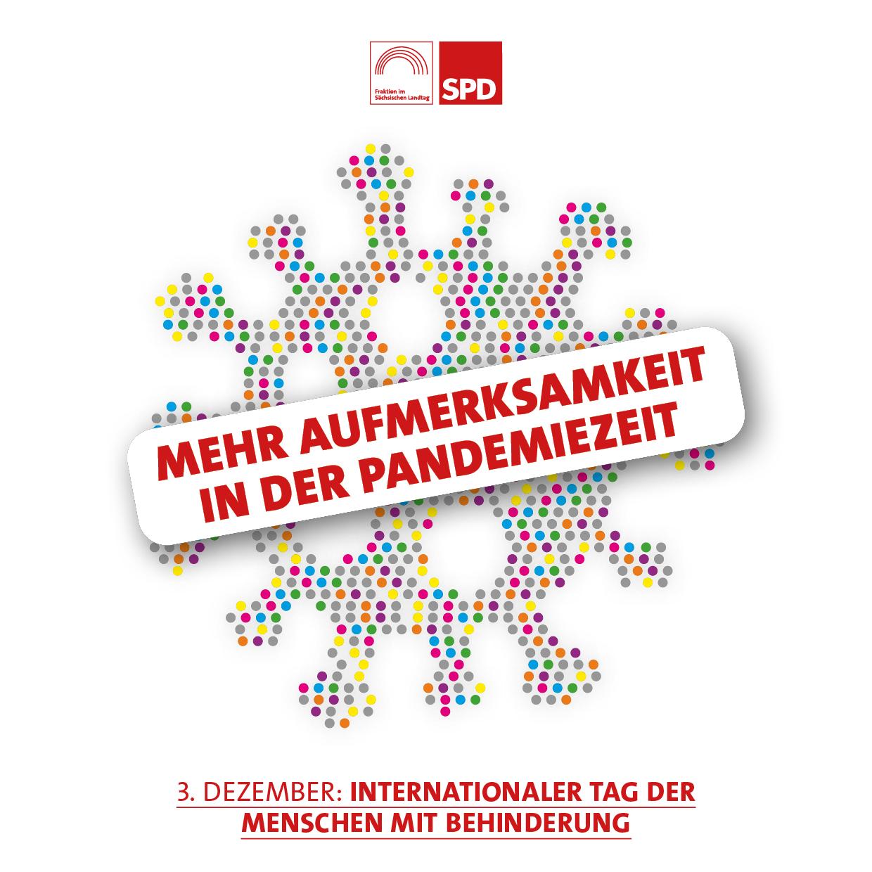 Mehr Aufmerksamkeit in der Pandemiezeit. Internationaler Tag der Menschen mit Behinderung.