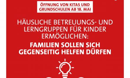 Familien sollen sich gegenseitig helfen dürfen