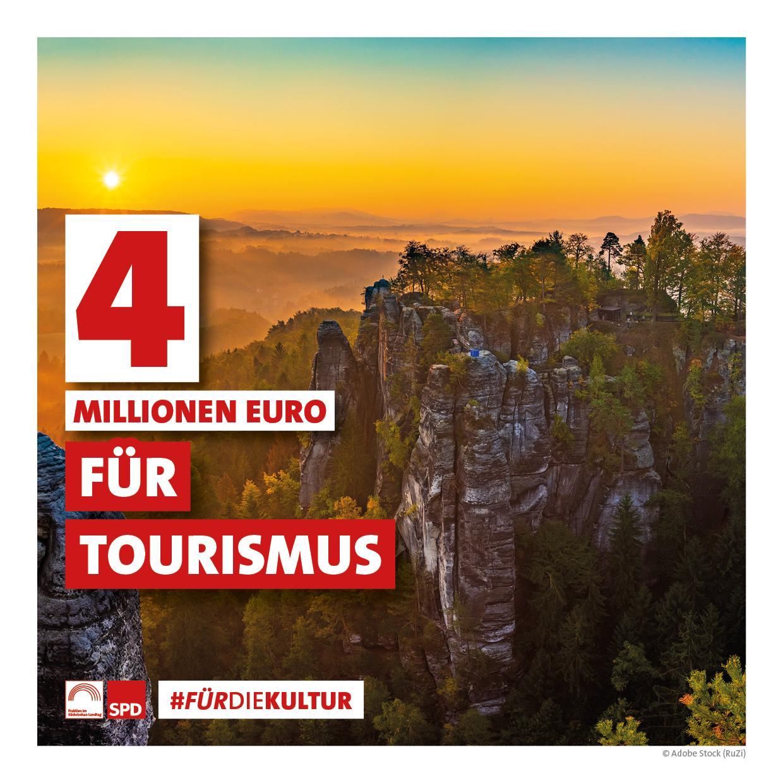 4 Millionen Euro für Tourismus