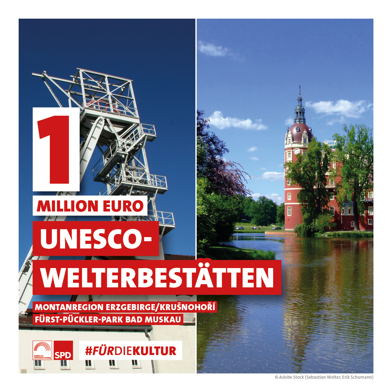 1 Million Euro für UNESCO-Welterbestätten