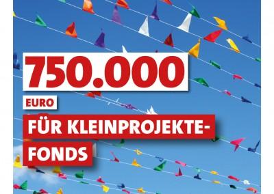 750.000 Euro für Kleinprojekte