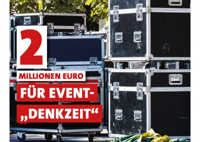 """2 Millionen Euro für """"Denkzeit Event"""""""