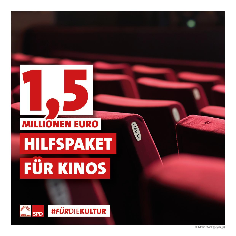 1,5 Millionen Euro Hilfspaket für Kinos