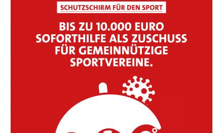 Der Schutzschirm für den sächsischen Sport ist gespannt