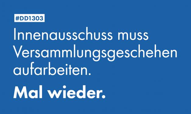 Pallas: Innenausschuss muss Versammlungsgeschehen in Dresden aufarbeiten