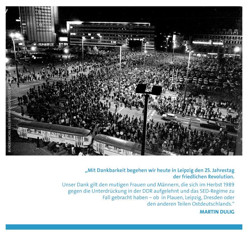 Martin Dulig zu 25 Jahre friedliche Revolution