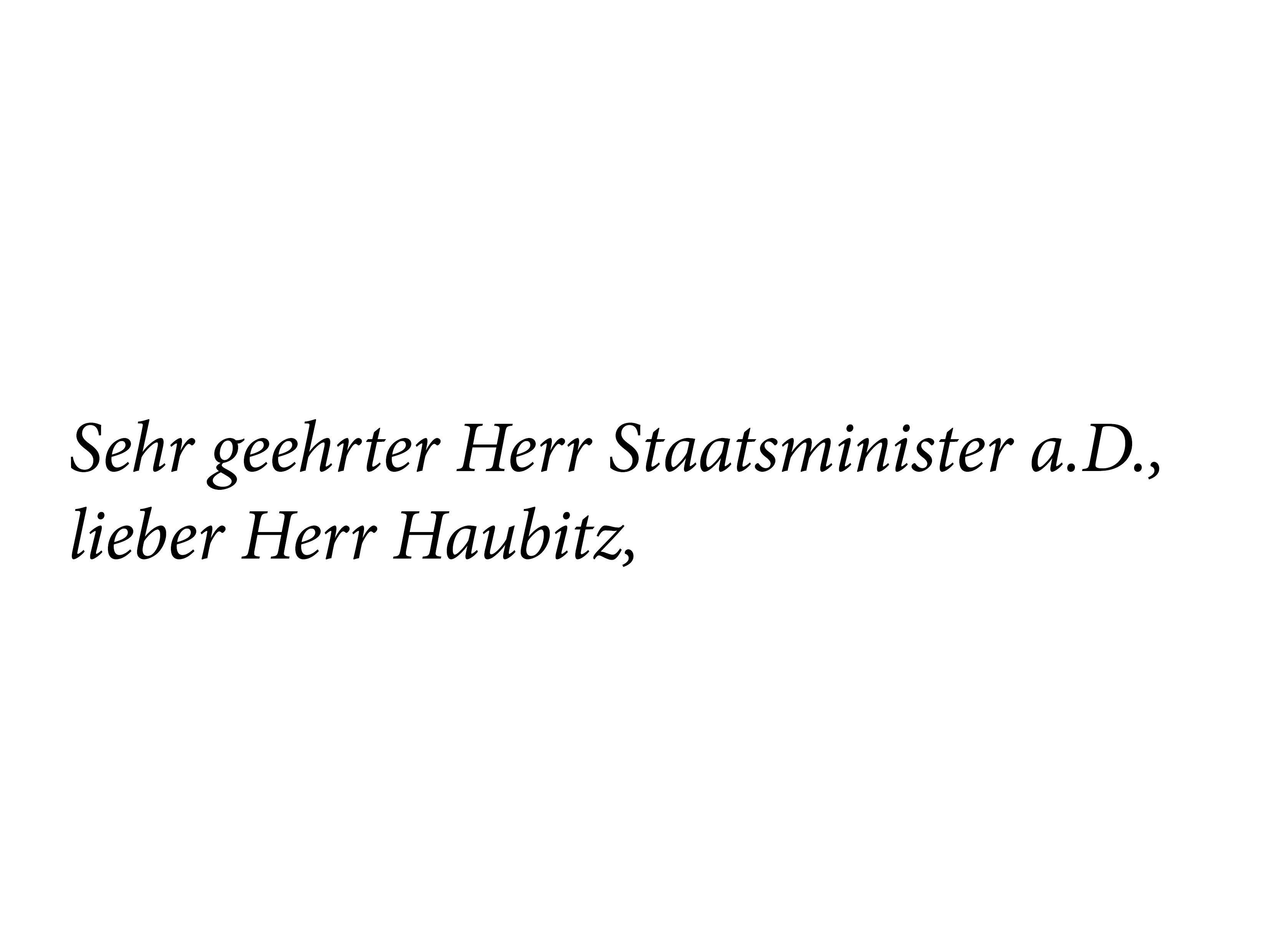 Antwort auf Haubitz-Interview
