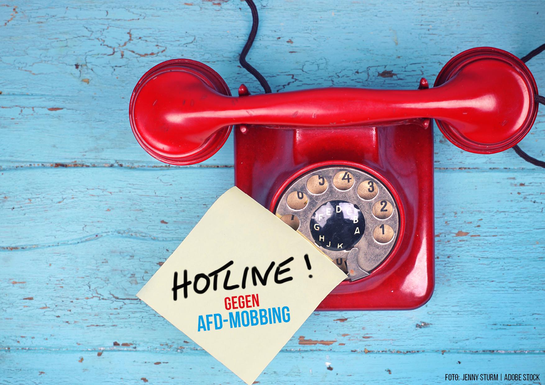 Hotline gegen AfD-Mobbing