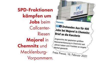 SPD-Fraktionen kämpfen um Jobs beim Callcenter-Riesen Majorel