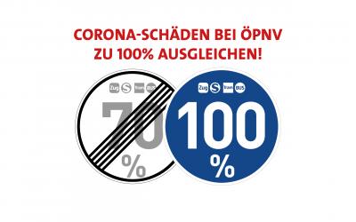 Corona-Schäden bei ÖPNV zu 100 Prozent ausgleichen!