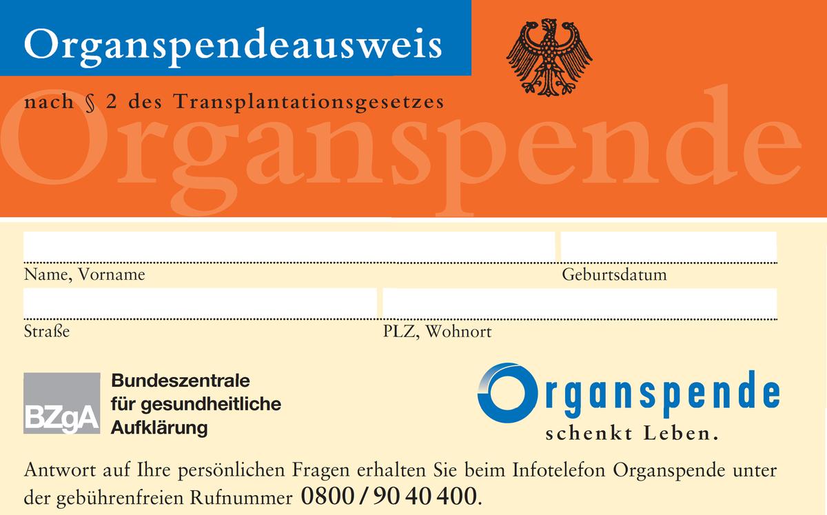 Lang: Ohne Vertrauen keine Organspenden