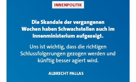 Pallas: Wir brauchen funktionierende Sicherheitsbehörden