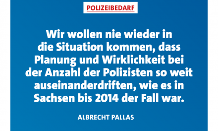 Pallas: Personalbedarf bei Polizei weiter kontinuierlich ermitteln