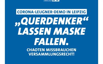 """Pallas: """"Querdenker"""" lassen Maske fallen"""