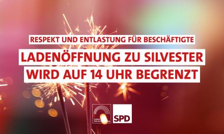 Homann: Silvester gehört den Familien – 14 Uhr ist Feierabend!
