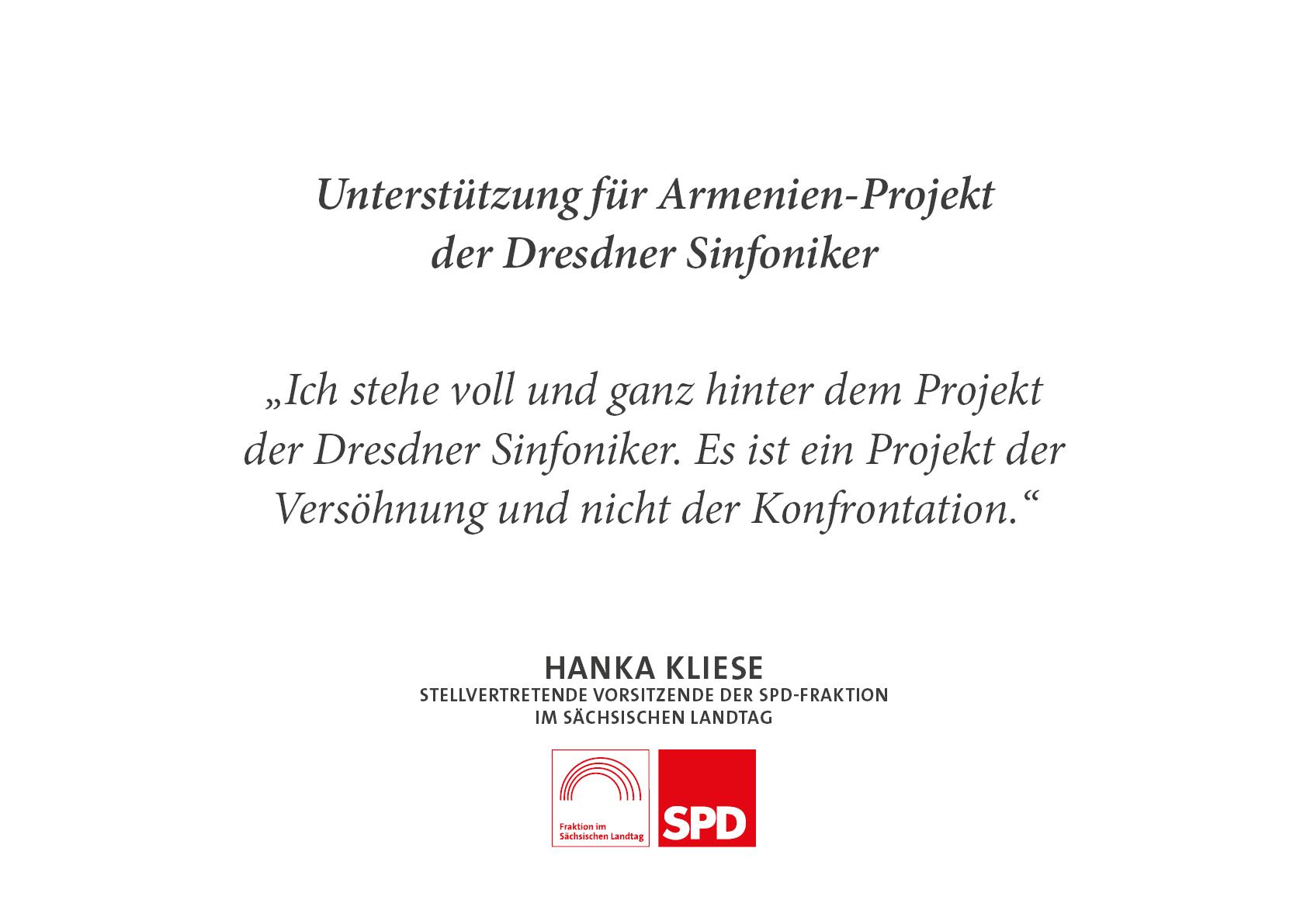 Unterstützung für Armenien-Projekt der Dresdner Sinfoniker