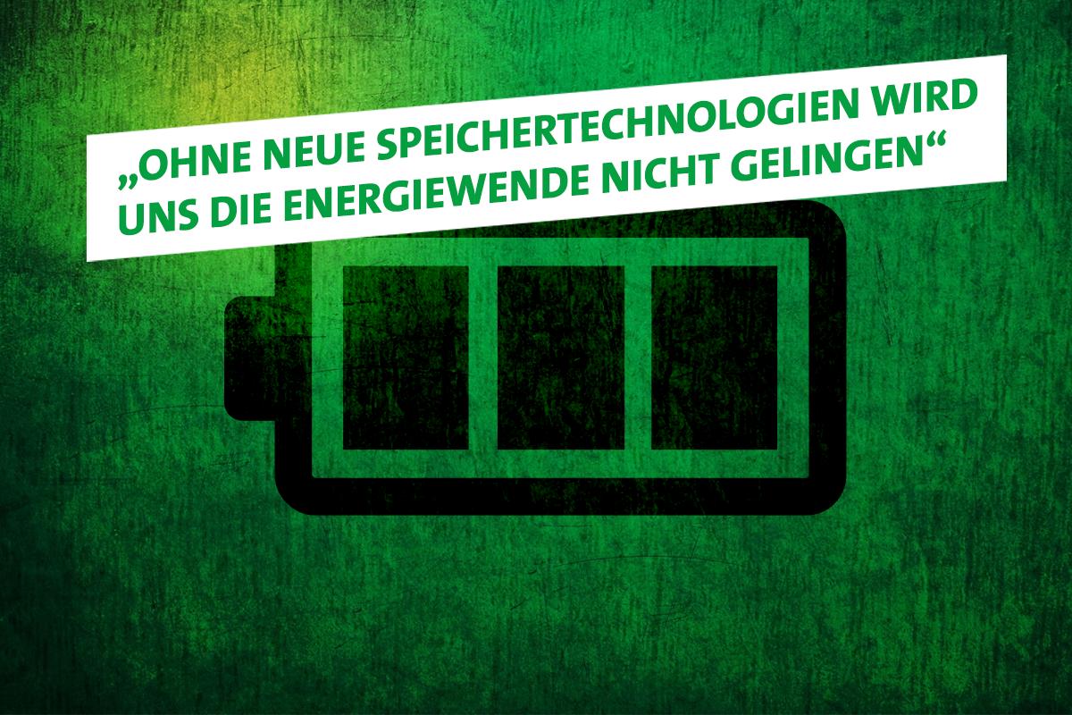 Vieweg: Energiewende nur mit neuen Speichertechnologien