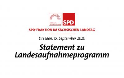 Statement zu Landesaufnahmeprogramm