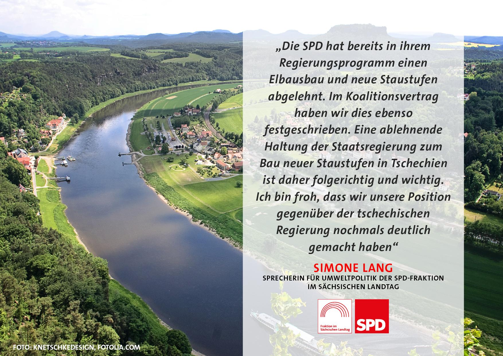 SPD begrüßt Ablehnung der Staustufe Děčín