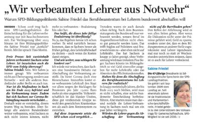 """SPD-Bildungspolitikerin Friedel: """"Wir verbeamten Lehrer aus Notwehr"""""""
